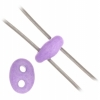 Twin 2-hole Bead 2.5x5mm Violet Solgel Dyed